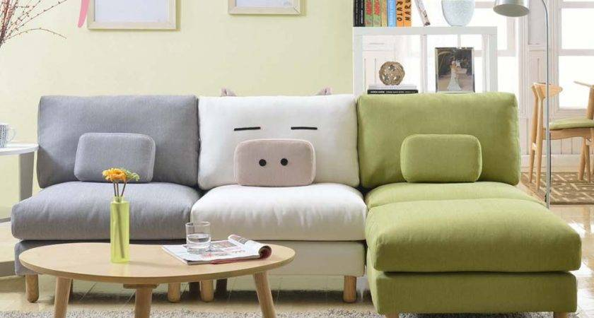 Show Homes Sofa Korean Small Apartment Around Corner