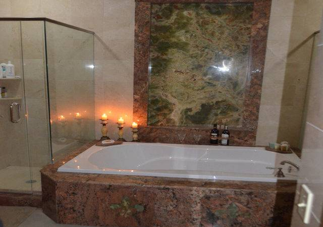 Shower Jacuzzi Mediterranean Bathroom Tampa