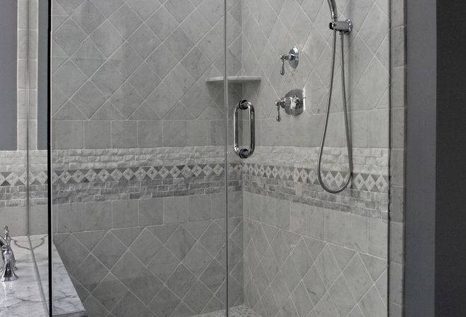 Shower Tile Patterns Bathroom Traditional Accent