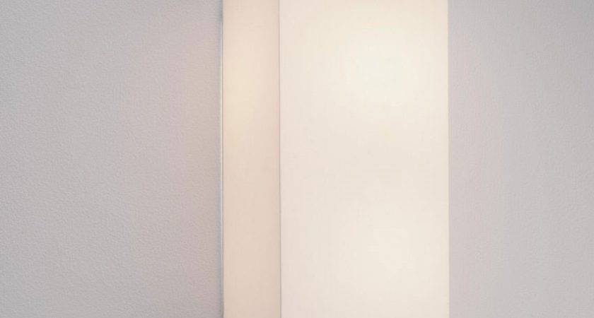 Simple Fabric Tall Wall Light Down Lighting White