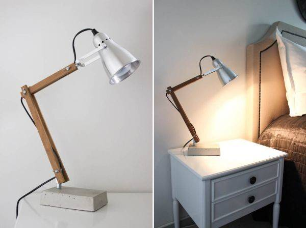 Simple Inventive Diy Bedside Table Lamps