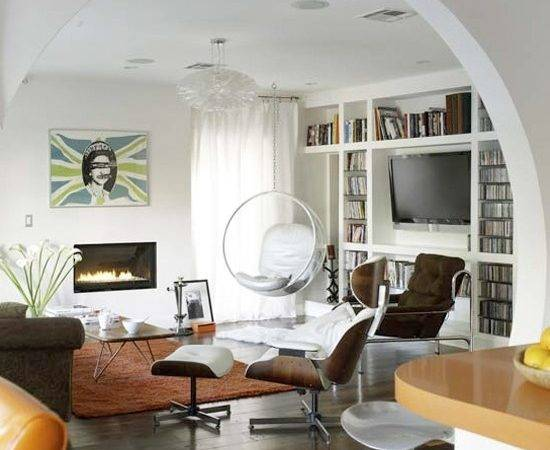 Simple Open Plan Living Room Accent Colours