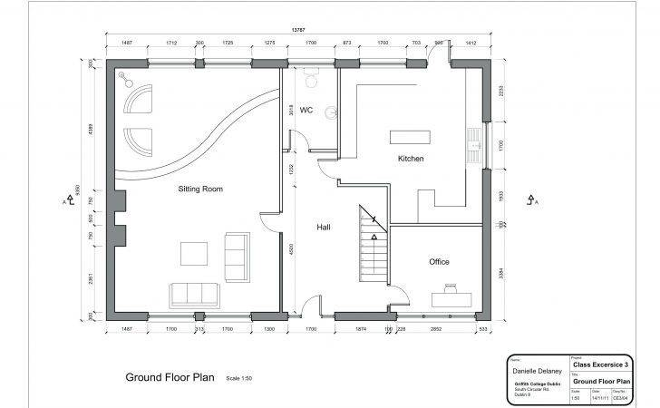 Simple Plansawing Modern House Plan Httpdehouss Comwp
