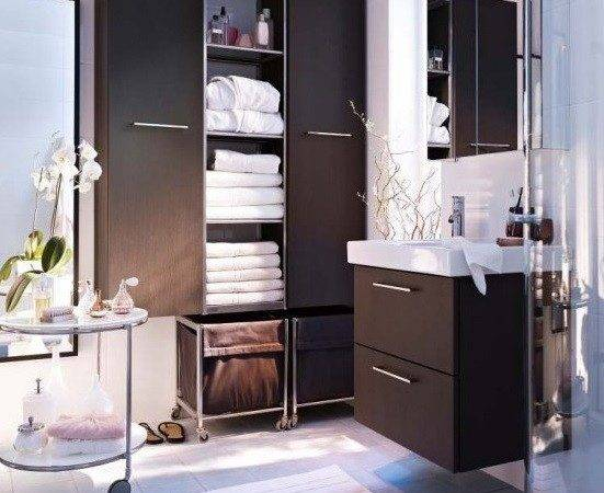 Simple Storage Ideas Small Bathrooms Home Interiors