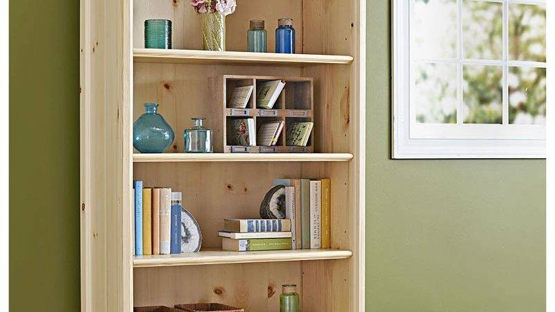 Simple Stylish Bookcase Woodworking Plan Wood