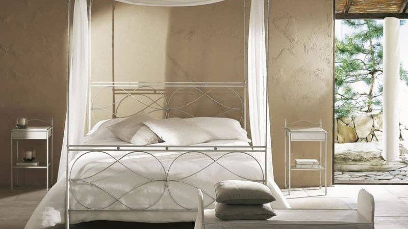 Single Modern Canopy Bed Hand Polished Welds Idfdesign