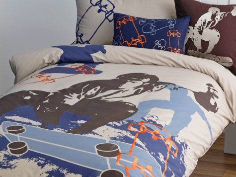 Skater Quilt Cover Set Doona Duvet Skateboarding Bedding