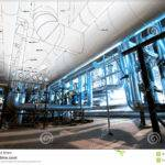 Sketch Piping Design Mixed Industrial Equipment