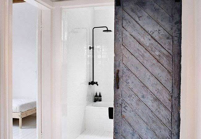 Sliding Barn Doors Bring Rustic Beauty Bathroom