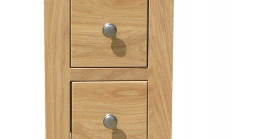 Slim Drawer Bedside Table Solid Oak