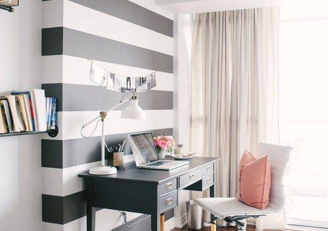 Small Black White Home Office Inspirations