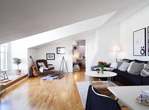 Small But Chic Attic Apartment Beautiful Views