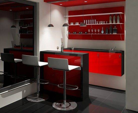 Small Contemporary Home Bars Bar Design