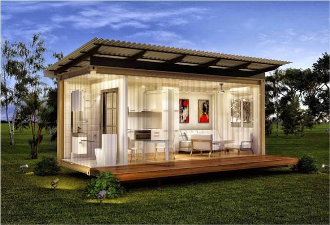 Small Luxury Modular Homes Under Feet Wooden Home