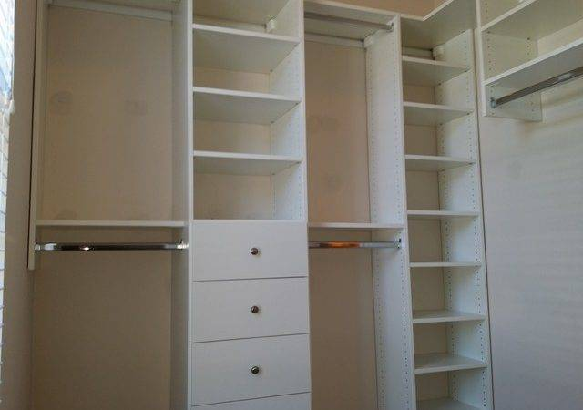 Small Master Walk Closet Transitional