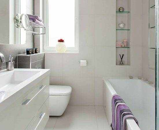 Small Modern White Bathroom Decorating