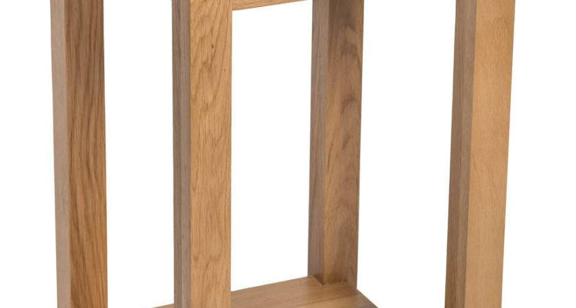 Small Oak Side Table Narrow Wooden End Lamp Bedside