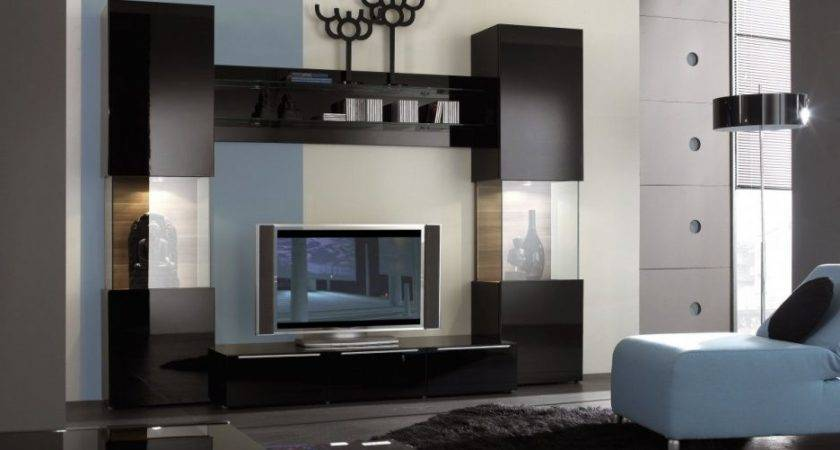 Small Rooms Modern Wall Unit Designs Living Room