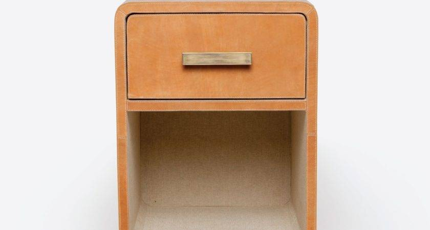 Small Tedan Leather Nightstand Mecox Gardens