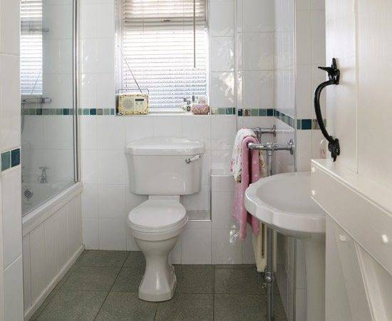 Small White Bathroom Modern Bathrooms Housetohome