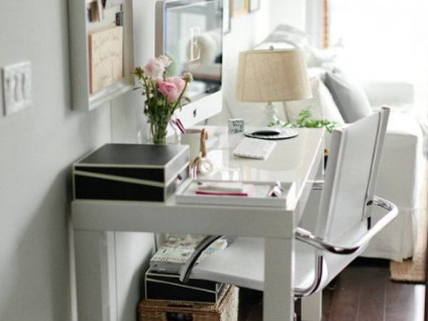 Small White Home Office Room Ideas