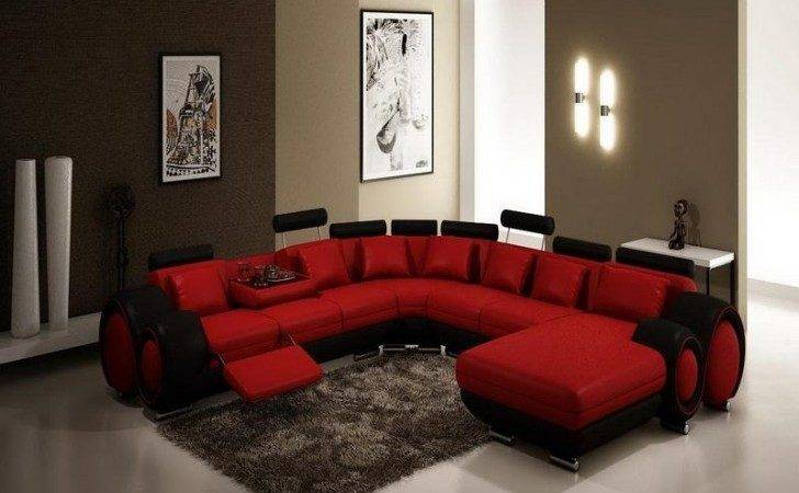 Sofa Beds Design Fascinating Unique Red Sectional
