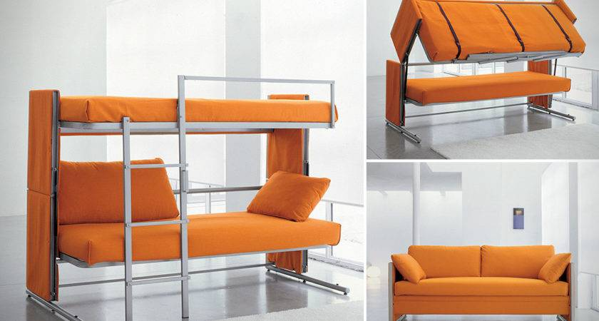 Sofa Bunk Bed Twin Over Desk