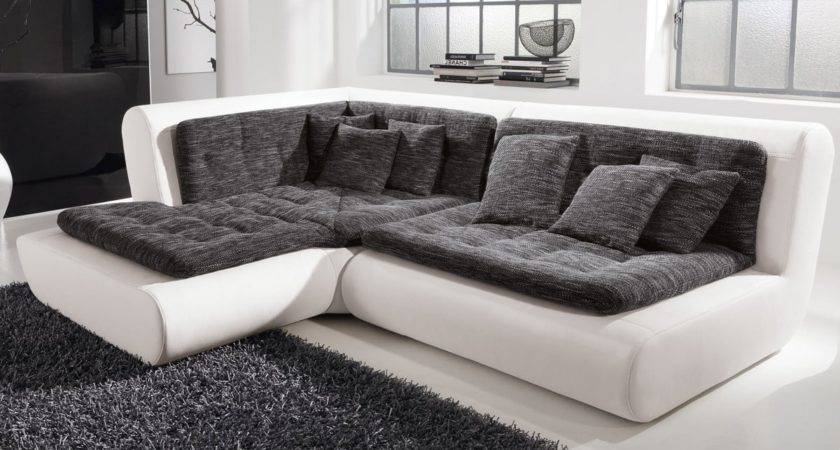 Sofa Exit Weiss Anthrazit Couch Ottomane Links