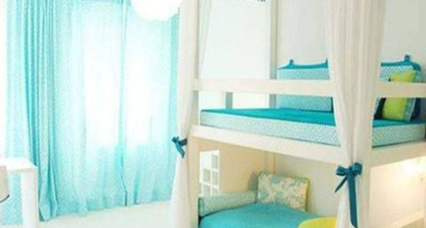 Soft Blue Sheer Curtain Amazing Bunk Beds Stylish