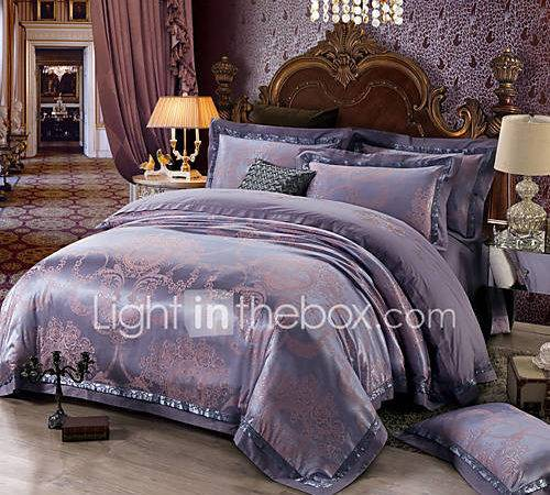 Soft Queen King Bedding Set Luxury Silk Cotton Blend