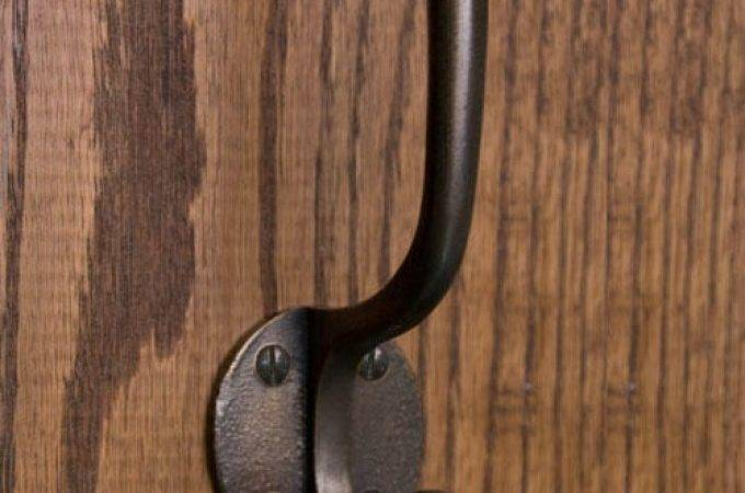 Solid Bronze Double Coat Hook Round Backplate Hardware