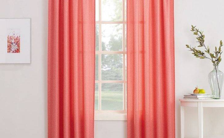 Solid Coral Colored Curtains Wonderful