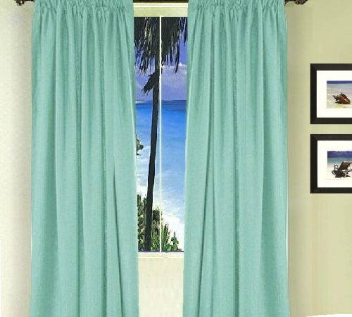 Solid Mint Green Colored French Door Curtain Available