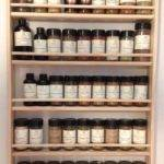 Solid Oak Shelf Wood Spice Rack Wall