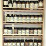 Solid Oak Wood Spice Rack Wall Mount