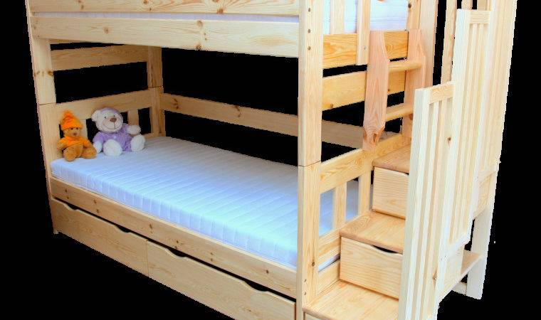 Solid Pine Wood Bunk Bed Stairs Enrique