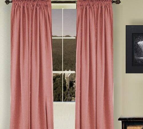 Solid Rose Colored Shower Curtain