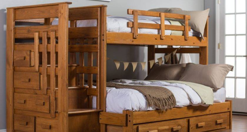 Solid Wood Bunk Beds Stairs Latitudebrowser