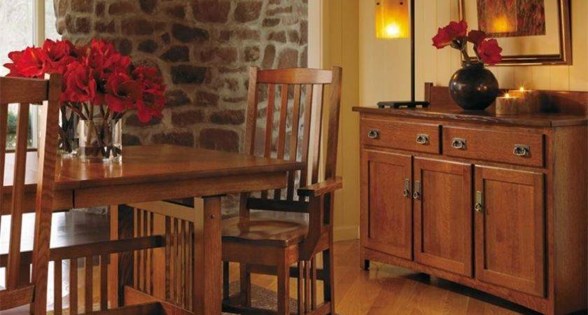 Solid Wood Dining Room Sets Mission Style Furniture