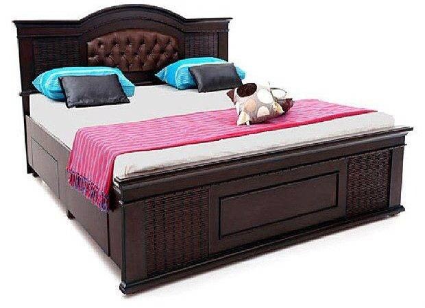 Solid Wood Double Bed Storage Buy