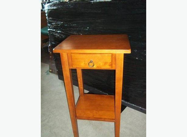 Solid Wood Small Table Night Oak Bay Victoria