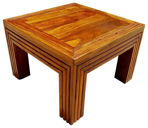 Solid Wood Square Corner Lamp Side End Table Stand