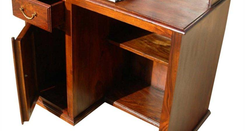 Solid Wood Study Table Writing Computer Desk Hutch