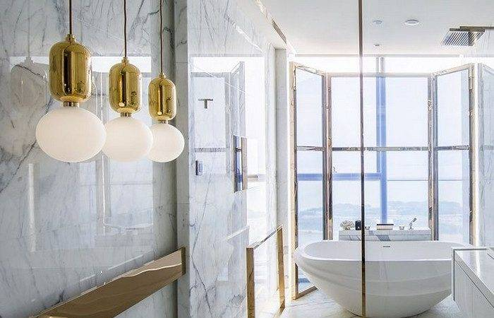 Sophisticated Ideas Modern Marble Bathroom Design