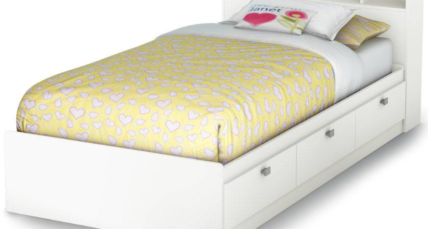 South Shore Sparkling Twin Bookcase Bed