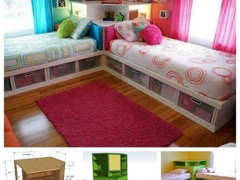 Space Saving Twin Bed Corner Unit Guide Tutorial
