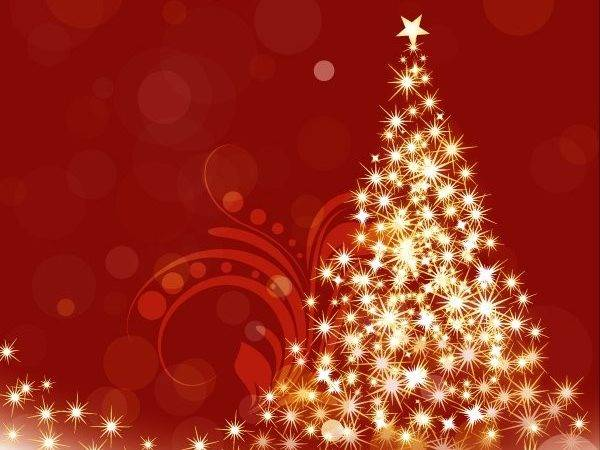 Sparkle Christmas Tree Vector Graphic Psd