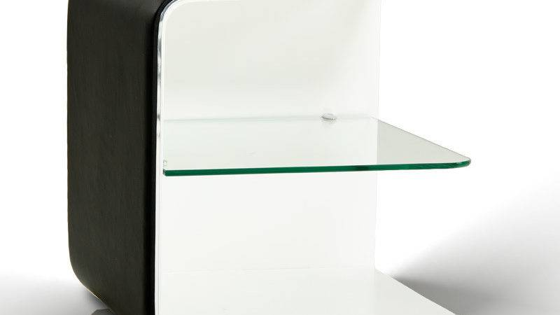 Spirit Contemporary Black White Nightstand
