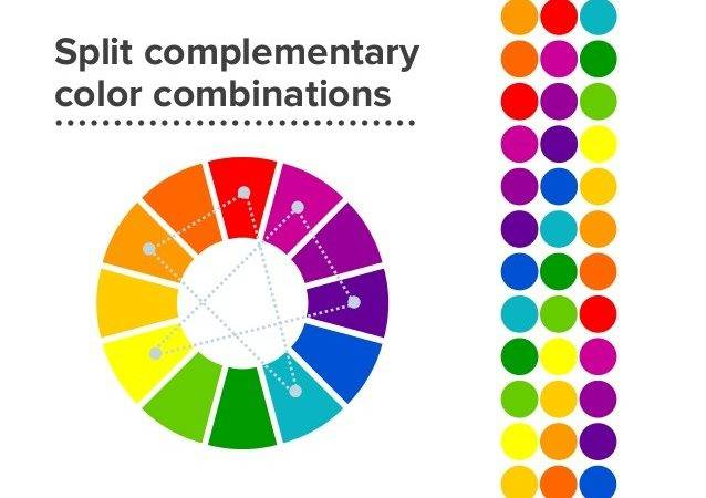 Split Complementary Colors Example
