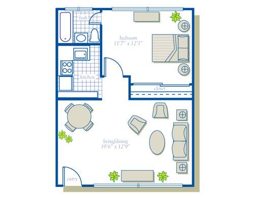 Square Feet Apartment Floor Plan Design Your